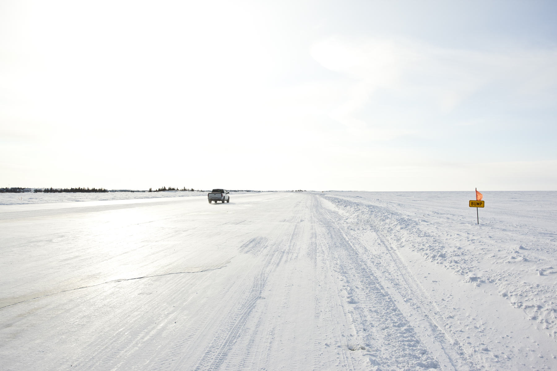 Ice Road on Great Slave Lake